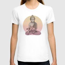 Buddha with dog5 T-shirt