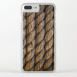 Tight round rope pattern Clear iPhone Case