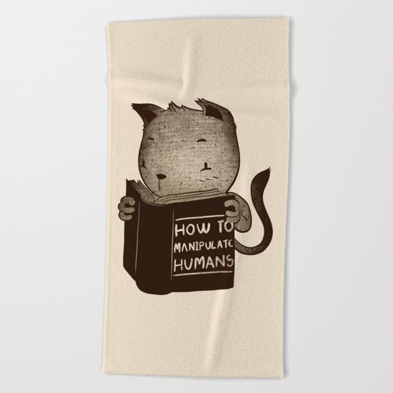 Cat Book How To Manipulate Humans Beach Towel