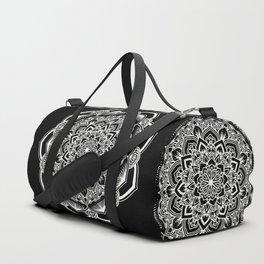 Black and white mandala Duffle Bag