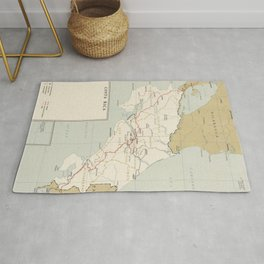 Vintage Map of Costa Rica (1961) Rug