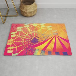 The Fair is in Town - Kitschy Abstract Watercolor Rug