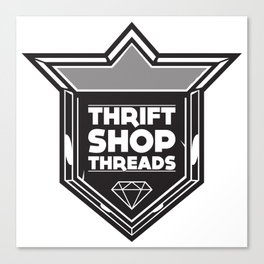 Thrift Shop Threads Shield Canvas Print