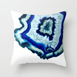 Inkdrop Agate slice Throw Pillow