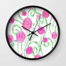 Flowers and Vines Wall Clock