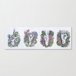 LOVE- ASL alphabet art Canvas Print