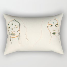Third Eye Shine Rectangular Pillow