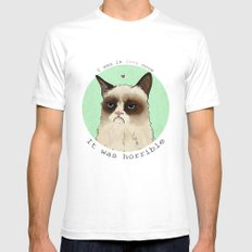 Grumpy cat love Mens Fitted Tee SMALL White
