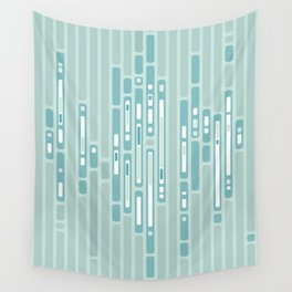 Ocean Reflection – Blue / Teal Midcentury Abstract Wall Tapestry