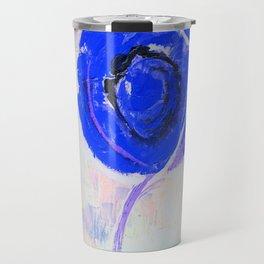 Snow Honey Silver Ice Blue Rose Travel Mug