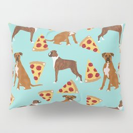 Boxer dog pattern pizza dog lover pet portraits boxers dog breed by pet friendly Pillow Sham