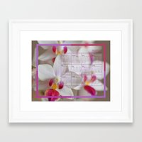calendar 2015 Framed Art Prints featuring Calendar 2015 Orchids by Lena Photo Art