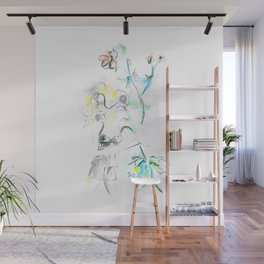 Flora and Woman Wall Mural