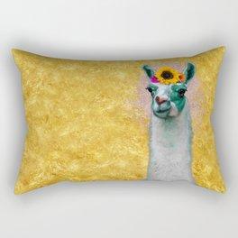 Flower Power Llama Rectangular Pillow