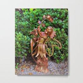 Copper Garden Fairy Metal Print