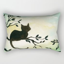 Lily Sitting in the Center of the Sky Rectangular Pillow