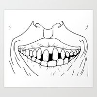 dentist Art Prints featuring Desire for Dentist? by Martin Stolpe Margenberg