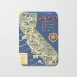 CALIFORNIA University map MAP Berkeley Bath Mat