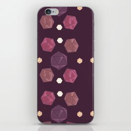 Red and Purple DnD Dice iPhone Skin