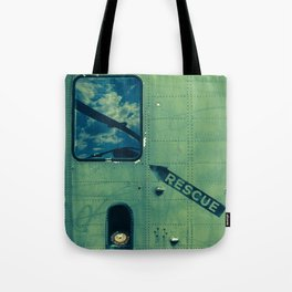 Green Rescue Decal Helicopter Instruction Tote Bag