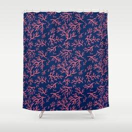 Flotsam Coral Shower Curtain