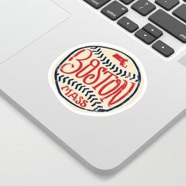 Hand Drawn Baseball for Boston with custom Lettering Sticker