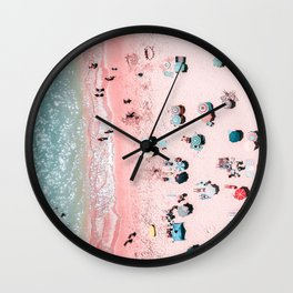 Ocean Print, Beach Print, Wall Decor, Aerial Beach Print, Beach Photography, Bondi Beach Print Wall Clock