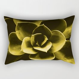 Succulent Plant In Olive Color #decor #society6 #homedecor Rectangular Pillow