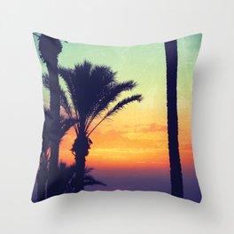Ibiza Sunrise Throw Pillow
