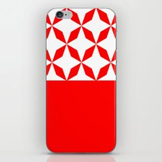 Abstract geometric pattern - red and white. iPhone Skin