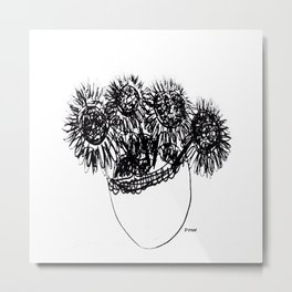 Les tournesols - Sunflowers Metal Print