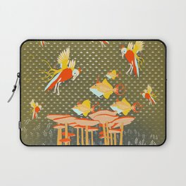 Birds over fishes over mushrooms ...who will win ? Laptop Sleeve