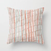 tape Throw Pillows featuring tape by  Ray Athi