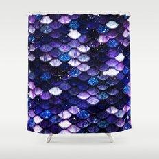 Mermaid Glitter Scales Shower Curtain