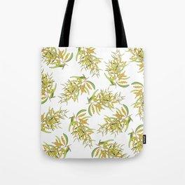 Australian Wattle Flower, Illustration Tote Bag