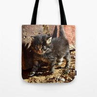 chewbacca Tote Bags featuring Chewbacca reborn  by North 10 Creations
