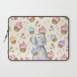 CUPCAKES AND WEIMARANER Laptop Sleeve