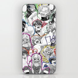 Ahegao hentai faces in color iPhone Skin