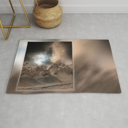 Heavy Duty Earthworks During An Eclipse Rug