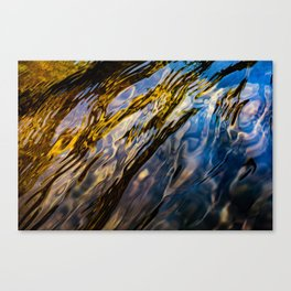 River Ripples in Copper Gold Blue and Brown Canvas Print
