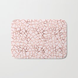 Crackle Rose Gold Foil Bath Mat