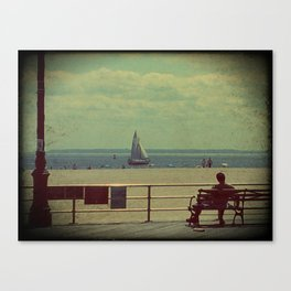 Sailing Coney Canvas Print