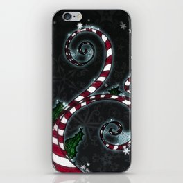 Candy Cane Vine iPhone Skin