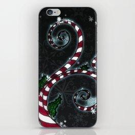 Candy Cane Vine iPhone Skin