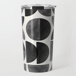 Mid Century, Retro Geometric Art Travel Mug