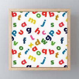 colourful alphabet Framed Mini Art Print