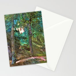 Castle Grounds In Lichtenberg In Odenwald - Wilhelm Trubner Stationery Cards