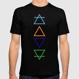Air, fire, water & earth T-shirt