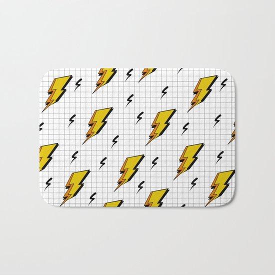 Pop art for streak of lightning Bath Mat