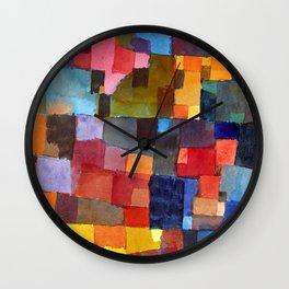 """Paul Klee """"Raumarchitekturen - Auf Kalt-Warm)(Room architectures - On cold-warm))"""" Wall Clock"""